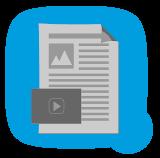 Vorstrukturierte Kursvorlagen, Upload und Download von Dokumenten, Eigene Dateien, Bilder, Videos